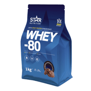 Whey 80 proteinpulver fra Star Nutrition